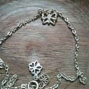 .925 sterling silver butterfly bracelet